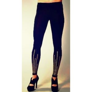 Tart Modal Legging Black Gold Studded Edgy Skinny